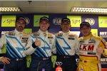 Yvan Muller (Chevrolet), Robert Huff (Chevrolet), Alain Menu (Chevrolet) und Darryl O'Young (Bamboo)