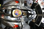Lewis Hamilton (McLaren) mit Helm in Stars & Stripes