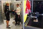 Sebastian Vettel (Red Bull) und Heikki Huovinen