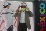Sergio Perez (Sauber) und der mexikanische Präsident Felipe Calderon