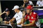 Sebastian Vettel (Red Bull), Michael Schumacher (Mercedes) und Fernando Alonso (Ferrari)