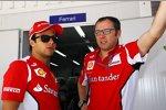 Felipe Massa (Ferrari) und Stefano Domenicali (Ferrari-Teamchef)