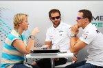 Michael Schumacher (Mercedes) mit seiner Managerin Sabine Kehm