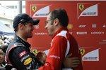 Sebastian Vettel und Stefano Domenicali