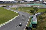 Bruno Senna (Williams), Sergio Perez (Sauber) und Michael Schumacher (Mercedes)