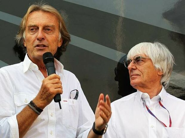 Luca di Montezemolo (Ferrari-Präsident), Bernie Ecclestone (Formel-1-Chef)
