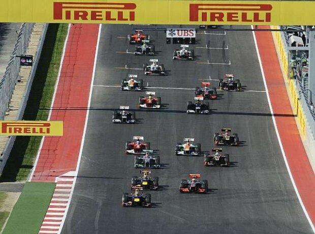 Start zum Grand Prix der USA 2012 in Austin