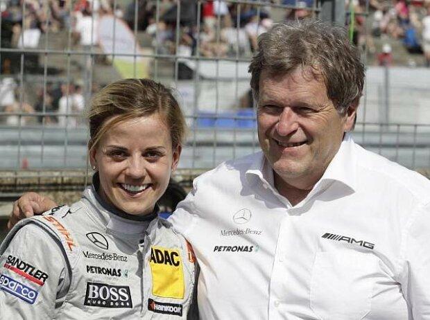 Susie Wolff, Norbert Haug (Mercedes-Motorsportchef)