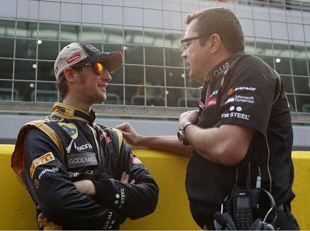 Romain Grosjean und Eric Boullier