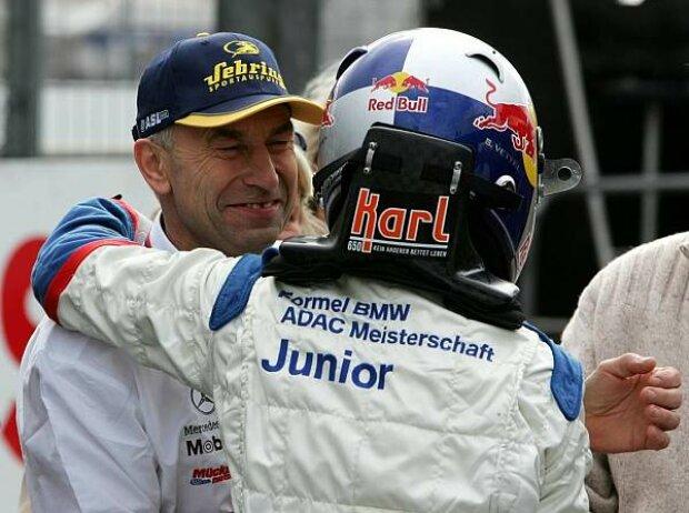 Peter Mücke und Sebastian Vettel