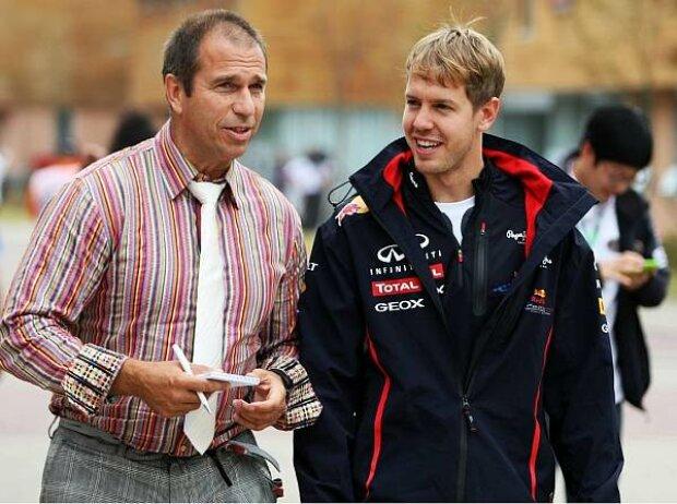 Kai Ebel und Sebastian Vettel