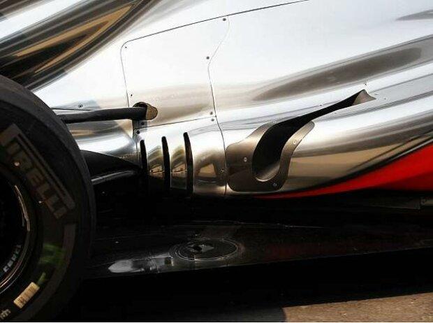 Coanda-Auspuff am McLaren MP4-27