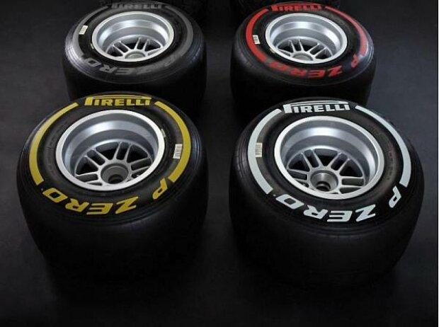 Die vier Slick-Mischungen von Pirelli für die Saison 2012