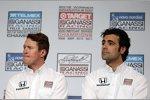 Prominente IndyCar-Gäste: Scott Dixon (Ganassi) und Dario Franchitti (Ganassi)