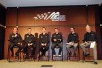 Joe Gibbs Racing: Brian Vickers (Nationwide), Matt Kenseth , Kyle Busch, Denny Hamlin, J.D. Gibbs und Joe Gibbs