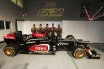 Nicolas Prost, Davide Valsecchi, Kimi Räikkönen, Romain Grosjean Jerome D'Ambrosio und der Lotus E21