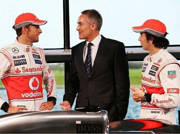 Jenson Button, Martin Whitmarsh, Sergio Perez