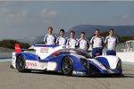 Alexander Wurz, Kazuki Nakajima, Nicolas Lapierre, Anthony Davidson, Stephane Sarrazin und Sebastien Buemi (Toyota)