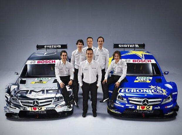Mercedes-DTM-Kader 2013, Christian Vietoris, Daniel Juncadella, Gary Paffett, Ralf Schumacher, Robert Wickens, Roberto Merhi