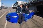 Teammanager Dominik Greiner und Fredy Barth (Wiechers-BMW)