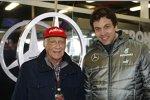 Niki Lauda und Toto Wolff (Mercedes)