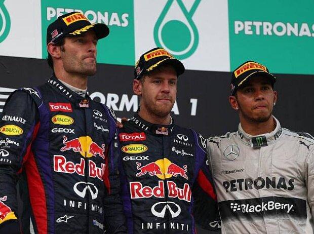 Sebastian Vettel, Mark Webber, Lewis Hamilton
