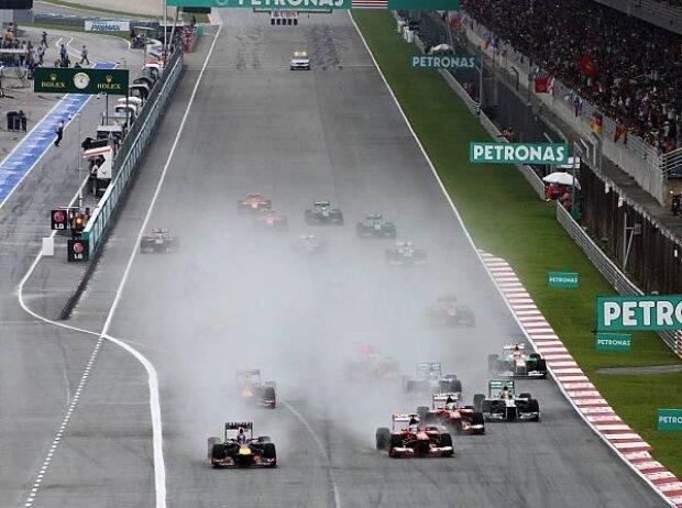 Sebastian Vettel start
