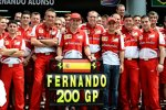200. Grand Prix von Fernando Alonso (Ferrari)