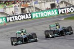 Nico Rosberg und Lewis Hamilton (Mercedes)