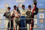 James Nash (Bamboo-Chevrolet), Yvan Muller (RML-Chevrolet), Pepe Oriola (Tuenti-SEAT) und Tom Chilton (RML-Chevrolet)