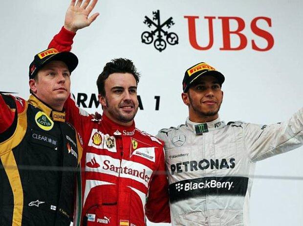 Fernando Alonso, Lewis Hamilton, Kimi Räikkönen