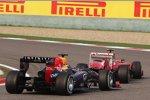 Felipe Massa (Ferrari) und Sebastian Vettel (Red Bull)