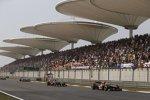 Romain Grosjean (Lotus), Daniel Ricciardo (Toro Rosso) und Jenson Button (McLaren)
