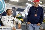 Lewis Hamilton und Niki Lauda (Mercedes)