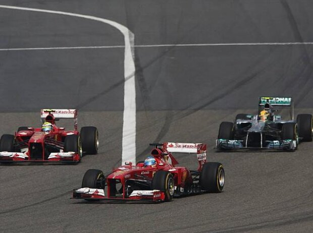 Fernando Alonso, Felipe Massa, Lewis Hamilton