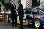US-Präsident Barack Obama und Brad Keselowski (Penske)