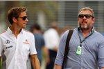 Jenson Button (McLaren) und Manager Richard Goddard