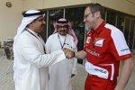 Stefano Domenicali (Ferrari) mit dem Kronprinzen von Bahrain