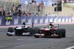 Valtteri Bottas (Williams) und Felipe Massa (Ferrari)