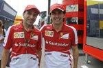 Die Ferrari-Testfahrer Marc Gene und Pedro de la Rosa