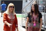 Simone und Samantha Button, Mutter und Schwester von Jenson Button (McLaren)