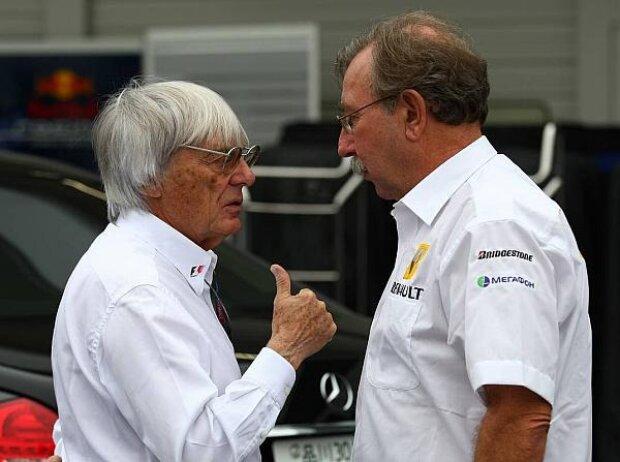 Bernie Ecclestone und Jean-Francois Caubet