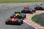 Valtteri Bottas (Williams), Jenson Button (McLaren) und Giedo van der Garde (Caterham)