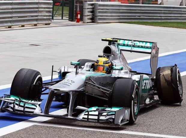 Lewis Hamilton, Reifen, Reifenschaden, Lauffläche