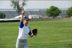 Simon Pagenaud lernt Baseball
