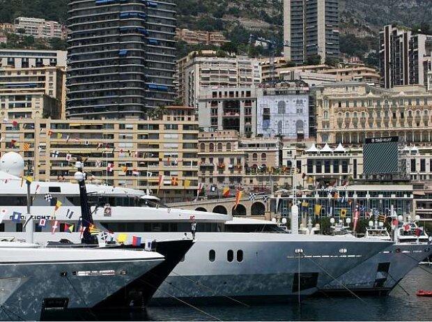 Jachten am Hafen von Monte Carlo