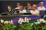 Donnerstags-Pressekonferenz mit Nico Hülkenberg (Sauber), Jules Bianchi (Marussia), Adrian Sutil (Force India), Romain Grosjean (Lotus), Lewis Hamilton (Mercedes) und Jenson Button (McLaren)
