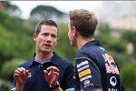 Sebastian Vettel (Red Bull) und WRC-Topstar Sebastien Ogier (Volkswagen)