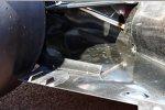 Auspuff und Unterboden des Williams FW35