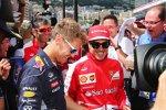 Gut gelaunt am freien Tag: Sebastian Vettel (Red Bull) und Fernando Alonso (Ferrari)